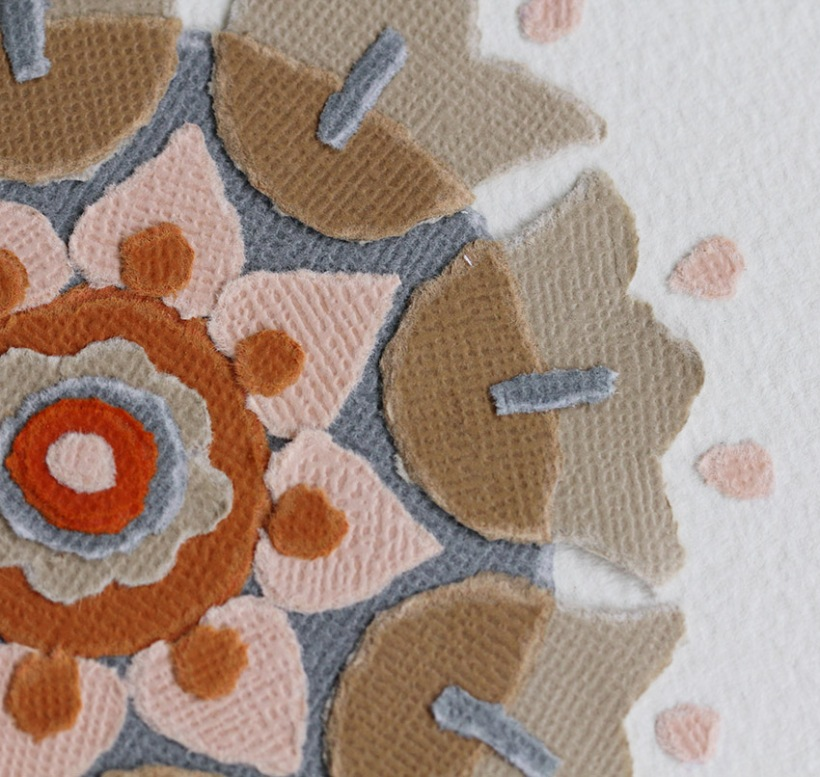 Close up of Orange tulip floral design-Lilibet Stanley