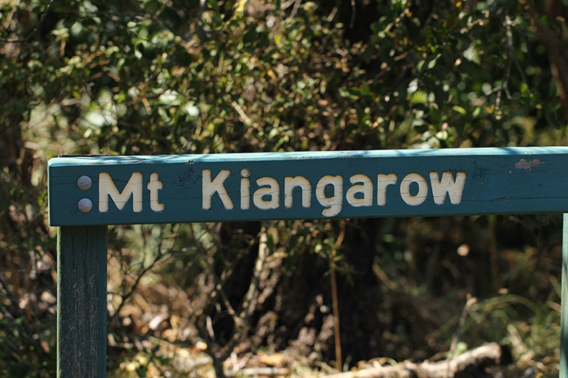 Mount Kiangarow sign -Lilibet Stanley