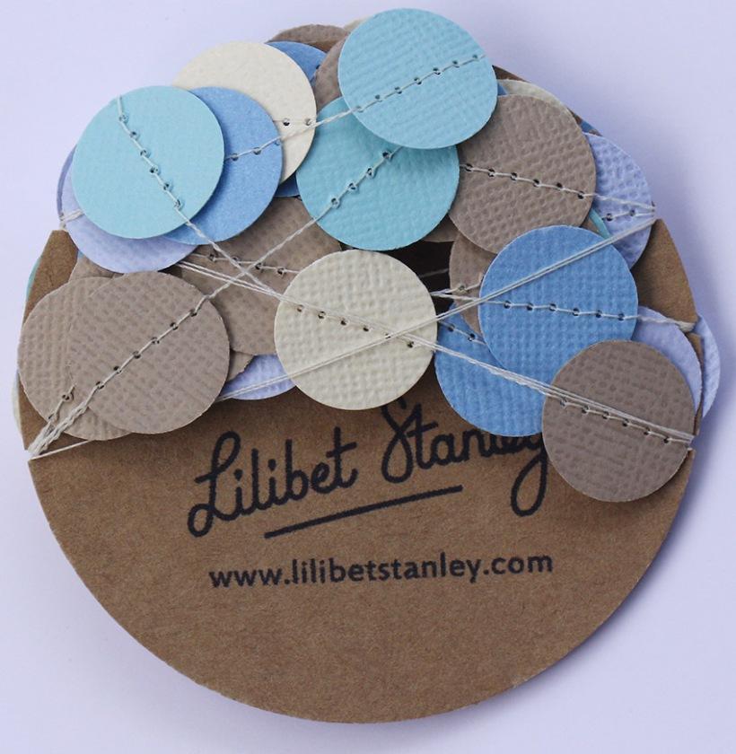 aqua blue cream beige spot bunting1-Lilibet Stanley