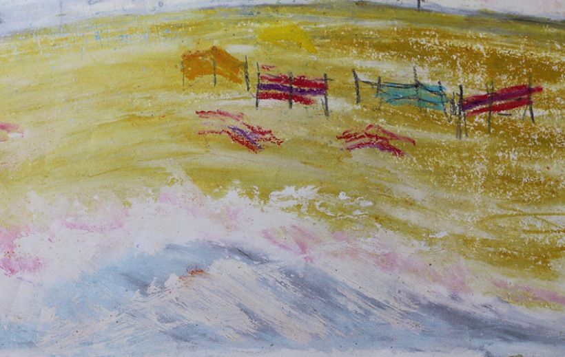 close up of porthmeor beach-Lilibet Stanley
