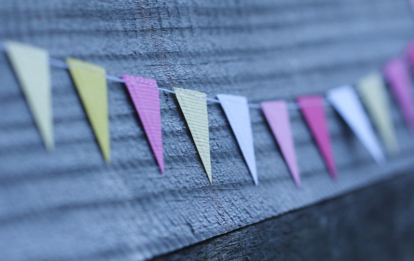 pink and yellow triangle bunting3-Lilibet Stanley