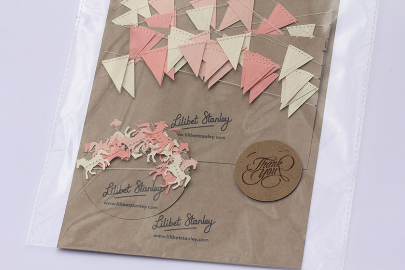 Peach bunting packed up-Lilibet Stanley