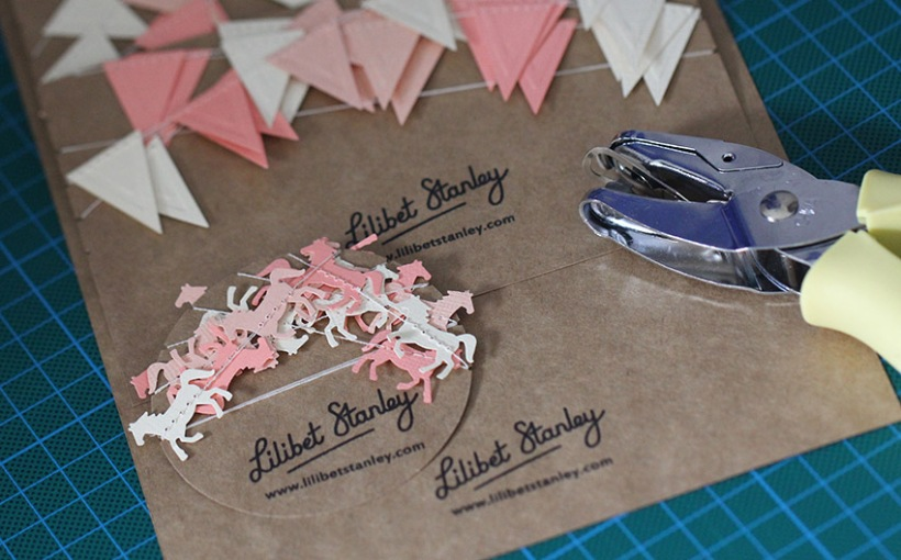 Peach bunting preparation-Lilibet Stanley