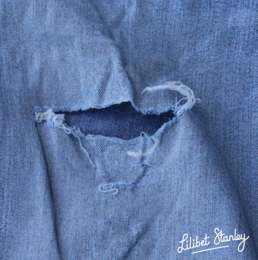 Jeans repair7 - Lilibet Stanley